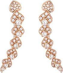 'lucky charm' diamond 18k rose gold earrings