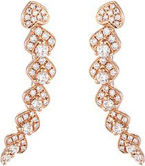 'lucky charm' diamond 18k rose gold earrings