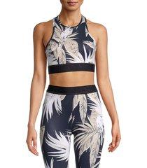 alala women's print racerback bra - splatter - size s