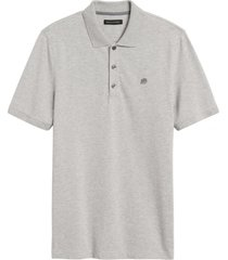 polera pique polo gris banana republic