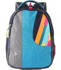 mochila escolar top drawer muztagh azul todobags