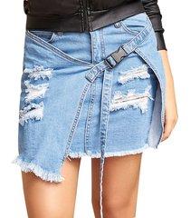 envío gratis falda barbara azul para mujer croydon