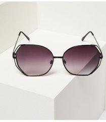 lane bryant women's double-frame butterfly sunglasses onesz black