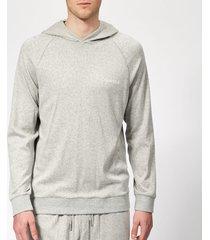 calvin klein men's long sleeve hoodie - grey heather - xl - grey