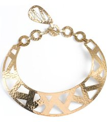 geometric gold necklace, women's, josie natori
