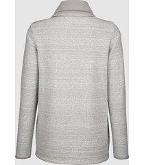 sweatshirt dress in grå::offwhite