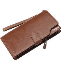 billetera larga para hombres baellerry kj2 cartera-marrón