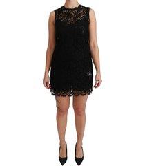 mouwloos lace cotton mini jurk