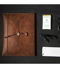 business casual vintage ipad file di documenti busta borsa frizione di cartella di file borsa