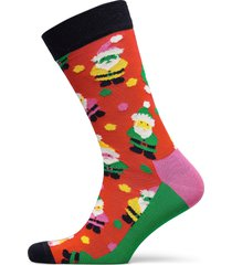santa sock underwear socks regular socks röd happy socks