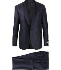 canali shawl-collar two-piece suit - blue