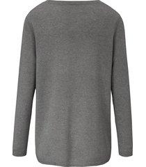 trui met v-hals van 100% kasjmier, topkwaliteit van include grijs