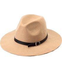 donna vintage cappello a tesa larga di lana misto con fascia decorativa fedora trilby cappello da cowboy