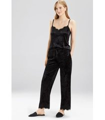velvet dream cami pajamas, women's, black, size s, josie