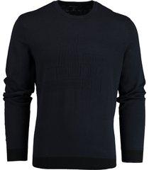 armani exchange donkerblauwe gebreide pullover 3hzm1c.zml5z/1510