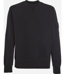 a-cold-wall black stretch cotton sweatshirt with embroidered logo