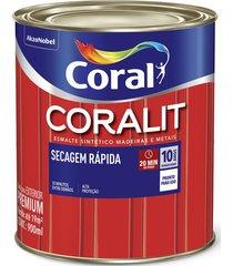 tinta coral coralit esmalte sintético secagem rápida acetinado, lata 900 ml, branco
