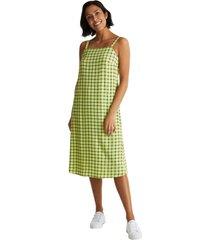 vestido cuadros lenzing ecovero lima esprit