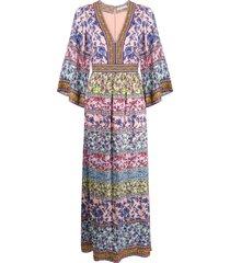 alice+olivia lena panelled maxi dress - pink