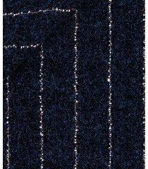 pantaloni da uomo su misura, vitale barberis canonico, flanella blu rigata bouclé, autunno inverno | lanieri