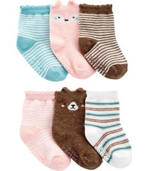 carter's baby girl 6-pack animal booties
