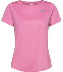 accelerate shortsleeve v2 t-shirts & tops short-sleeved rosa new balance