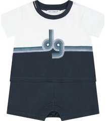 dolce & gabbana multicolor romper for babyboy with logo