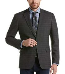 awearness kenneth cole black & white plaid slim fit sport coat