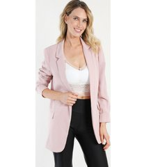 blazer forrado over size palo rosa night concept