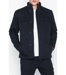 selected homme slhnoe cotton jacket b jackor mörk blå