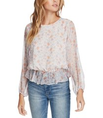 1.state floral-print cinched-waist top