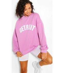 oversized detroit sweater, lila