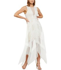 bcbgmaxazria asymmetrical lace dress