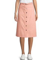 merritt button front midi skirt