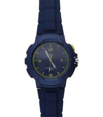 harlem – orologio so fancy 3h blu e verde con cinturino blu per uomo