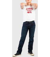 jeans levis 514 straight mex dark 49 azul - calce regular