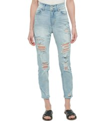 vanilla star juniors' distressed high-rise skinny jeans