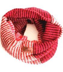 bufanda de lana circular rojo niba