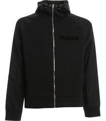 alexander mcqueen zipped hoodie jkt