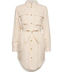 angelie ls shirt jurk knielengte crème soft rebels