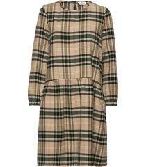 charles dress st knälång klänning brun iben