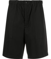 ami relaxed cotton shorts - black
