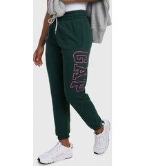 pantalón verde-fucsia gap