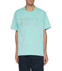 chain fringe slogan t-shirt