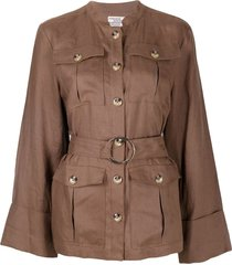 baum und pferdgarten single-breasted belted jacket - brown