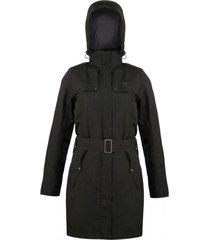 abrigo mujer aurora negro doite
