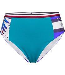 cheeky high waist bi bikinitrosa blå tommy hilfiger