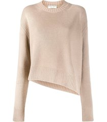 beige slit sweater