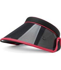 cappello a cappuccio alto trasparente trasparente nero regolabile anti-uv a doppio strato