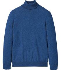 maglione a collo alto con cachemire (blu) - bpc selection
